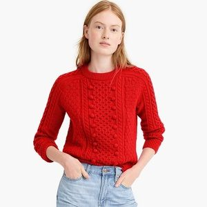 J.Crew Popcorn cable-knit sweater